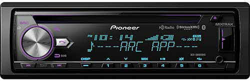 Poineer CD Receiver with enhanced Audio Functions, Full-featured Pioneer ARC App Compatibility, MIXTRAX®, Built-in Bluetooth®, HD Radio™ Tuner and SiriusXM-Ready™