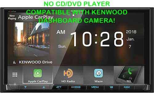 "Kenwood eXcelon Double DIN Wireless Android Auto and Apple CarPlay Digital Media Car Stereo w/ 6.95"" Touchscreen"