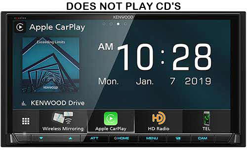 Kenwood eXcelon Digital Multimedia Receiver with Bluetooth & HD Radio  Stereo Receiver w/ Apple CarPlay & Android Auto