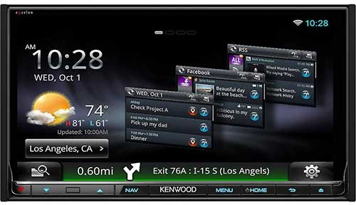 "KENWOOD eXelon In-Dash 6.95"" DVD/MP3/USB Touchscreen Car Stereo Receiver with WiFi Dongle, App Mode, MirrorLink and GPS"