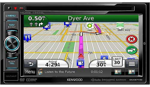 KENWOOD Double Din 6.1� AV Navigation System with Bluetooth & HD Radio