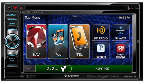 KENWOOD eXcelon Double DIN 6.1� AV Navigation System With Bluetooth And HD Radio