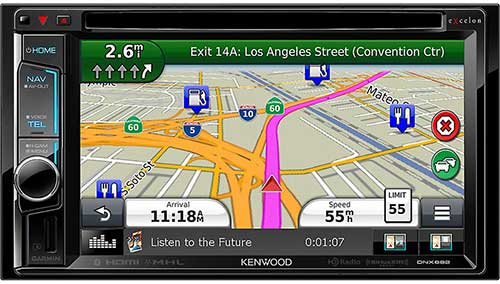 KENWOOD eXcelon Double DIN 6.2� AV Navigation System With Bluetooth And HD Radio