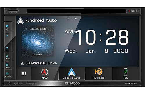 KENWOOD eXelon Navigation DVD Receiver with Bluetooth & HD Radio