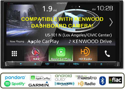 "KENWOOD eXelon In-Dash 6.95"" HD Navigation System with  Bluetooth and HD Radio"