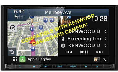 KENWOOD eXelon Double DIN Wireless Android Auto and Apple Carplay In-Dash DVD/CD/AM/FM Car Stereo Receiver