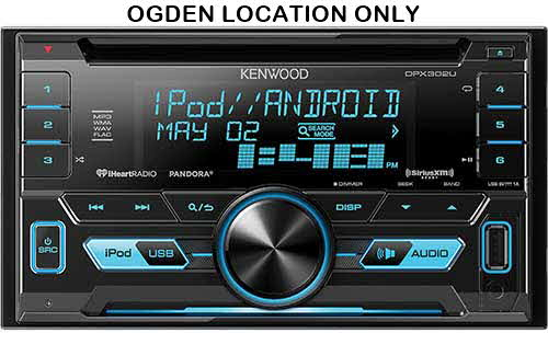 KENWOOD In-Dash Double DIN Receiver with front USB and AUX inputs
