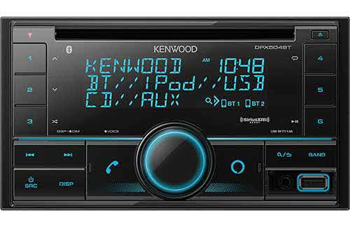 KENWOOD 2-Din CD Receiver with Bluetooth