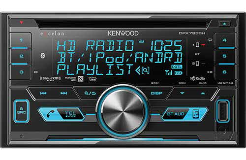 KENWOOD eXcelon Double DIN NFC Bluetooth In-Dash CD/AM/FM Car Stereo w/ Built-in HD Radio and SiriusXM Ready