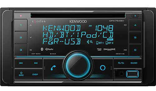 KENWOOD In-Dash Double DIN CD Receiver with HD Radio & Built-In Bluetooth