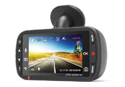 Kenwood GPS Integrated Dash Cam with Wi-Fi. This FULL HD front dash cam provides Superior Picture Quality, Wi-Fi Smartphone App compatibility, and a new Quick Release Magnetic Mount.