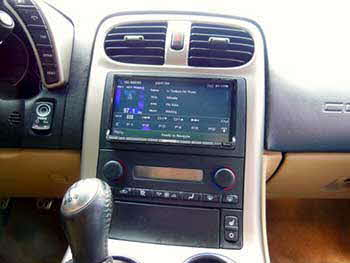"2006 Corvette. Installed Kenwood Excelon 6.95"" Pandora, HD Radio, BlueTooth Navigation System with a Universal Sirius Direct Connect Tuner."
