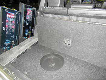 "1998 Volvo V70 all Helix front and rear component speaker sets powered by a four channel  amp controlled by a Kenwood multi-media touch screen dvd head unit , a 12"" subwoofer with custom box built into the spare tire compartment powered by a mono amp!"
