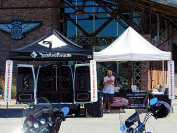 Saturday June 28, 2014 at Timpanogos Harley Davidson with K-BER for their Ride For Life Poker Run benefiting the Ronald McDonald House with the Rockford Fosgate Mini Sound Lab