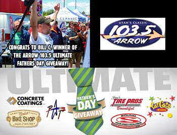 Congrats to Bill C. - Winner of The Arrow 103.5 - Ultimate Father's Day Giveaway!