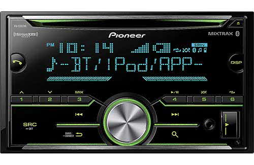Double DIN CD Receiver with Enhanced Audio Functions, Improved Pioneer ARC App Compatibility, MIXTRAX�, Built-in Bluetooth�, and SiriusXM-Ready�