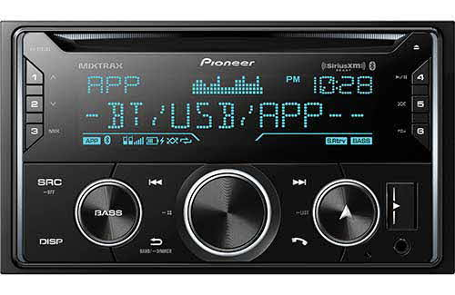 PIONEER Double DIN CD Receiver with Enhanced Audio Functions, Improved Pioneer ARC App Compatibility, MIXTRAX®, Built-in Bluetooth®, and SiriusXM-Ready™