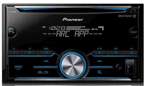 PIONEER Double DIN CD Receiver with Improved Pioneer ARC App Compatibility, MIXTRAX�, Built-in Bluetooth�