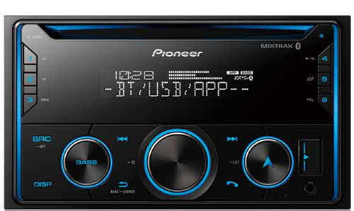 PIONEER Double DIN CD Receiver with Pioneer Smart Sync App Compatibility, MIXTRAX®, Built-in Bluetooth®