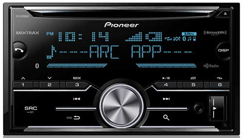 Poineer 2-Din CD Receiver with enhanced Audio Functions, Full-featured Pioneer ARC App Compatibility, MIXTRAX�, Built-in Bluetooth�, HD Radio� Tuner and SiriusXM-Ready�