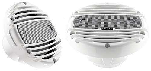 "HERTZ 6.5"" Marine RGB LED Coaxial Speakers (White)"