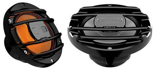 "HERTZ 6.5"" Marine & PowerSports RGB LED Coaxial Speakers (Black)"