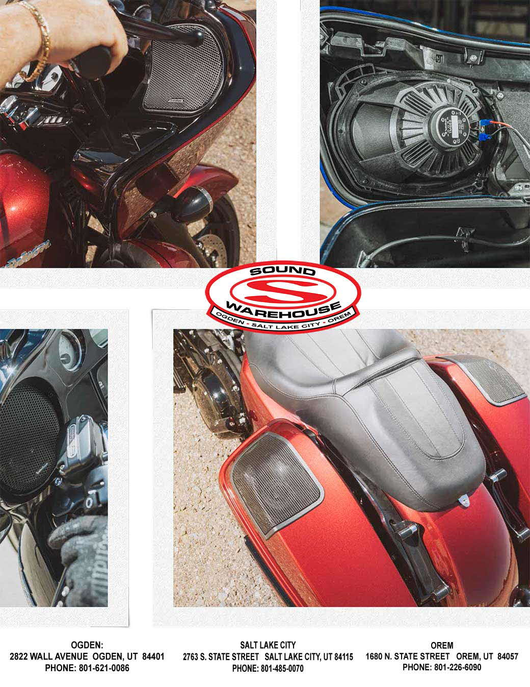 Motorcycle amplifiers, stereos, receivers