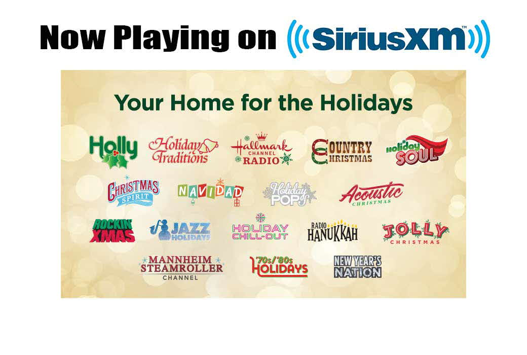 Holiday Music now playing on SiruisXM
