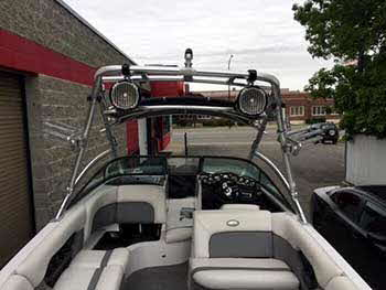 Supra Boat. Installed a pair of Rockford Fosgate Tower Speakers and a Kenwood Marine Receiver.