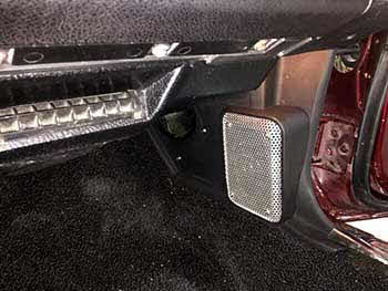1973 Camaro Z28. Installed a Kenwood receiver with 6X9 speakers on the rear deck and 4X6 speakers in custom built kick panels with punched aluminum grills.