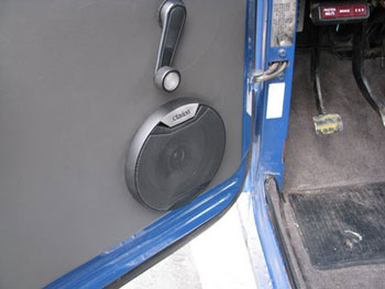 "TOYOTA LANDCRUISER - INSTALLED A CLARION AM/FM/CD/MP3 RECEIVER AND CUSTOM MOUNTED CLARION 6 1/2"" 2-WAY COAXIAL SPEAKERS IN DRIVER & PASSENGER DOORS"
