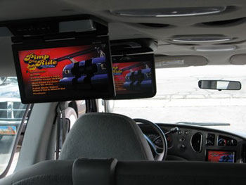 "15 passenger van - installed a Kenwood Excelon AM/FM/CD/DVD indash navigation entertainment system with built-in Garmin navigation, Parrot Bluetooth and back-up camera, together with a 11.2"" Planet Audio flip down monitor with built in DVD and a 12.1"" Valor monitor."