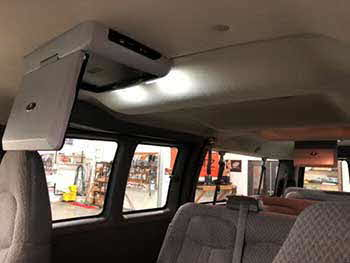 "2007 Chevy Express Van. Installed two Planet Audio 12.1"" & 11.2"""