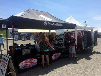 At the Lucas Oil Off Road Racing at Miller Raceway on Sunday with the Rockford Fosgate Mini Sound Lab.