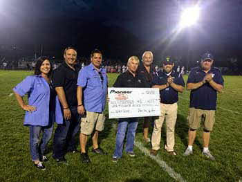 Timpanogos vs Timpview High School Football game. Pioneer donated $1,000.00 to Timpanogos School. Gave Pioneer Car Audio demos encouraging safe driving while sounding better!