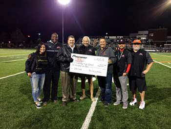 We were with Pioneer at the Murray vs Kearns High School football game. Demonstrated Pioneer Car Audio encouraging you to drive safer while sounding better. Pioneer donated $1,000.00 to Murray High School.