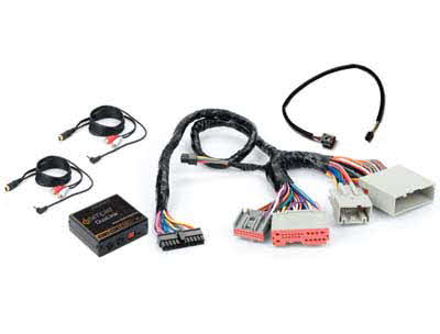 PAC Dual Auxiliary Audio Input Interface with Complete Vehicle Harness for Select 2005-2008 Ford Vehicles