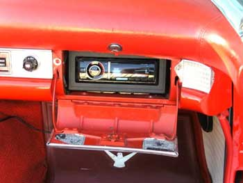 1955 T-Bird. Instlled Kenwood Excelon AM/FM/CD/USB/Bluetooth Receiver, Rockford Fosgate 2-channel Amplifier and Rockford Fosgate Full Range Speakers -Designed and installed by the Salt Lake City store