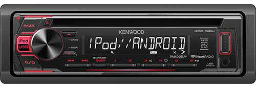 KENWOOD Single DIN In-Dash CD/AM/FM MP3 Receiver w/Front USB & Aux inputs