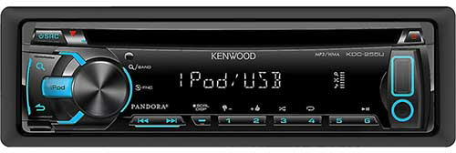 KENWOOD In-Dash CD/MP3/USB Car Stereo Receiver w/ iPod/iPhone Integration, Pandora Support & Auxiliary Input