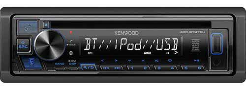 Kenwood Single DIN Bluetooth In-Dash CD/AM/FM Car Stereo Receiver w/ Pandora, Spotify Control