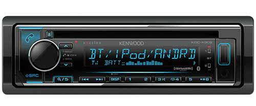 KENWOOD eXcelon Single DIN CD Receiver with built-in Bluetooth