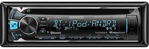 Kenwood eXcelon Single DIN In-Dash Bluetooth Car Stereo Receiver