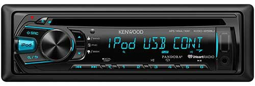 KENWOOD Single DIN In-Dash CD Car Stereo Receiver