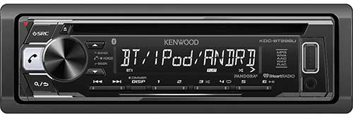 KENWOOD CD Receiver - Built-in Bluetooth with Detachable Faceplate - Black