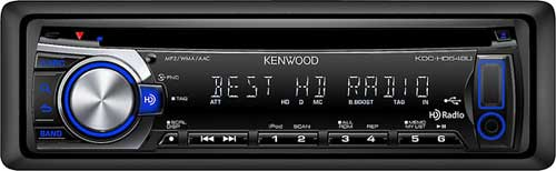 KENWOOD In-Dash HD/CD Receiver with iPod Connectivity