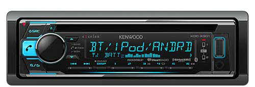 KENWOOD Single DIN CD Receiver with built-in Bluetooth