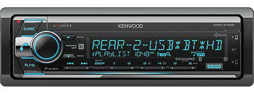 Kenwood eXcelon CD Receiver with Bluetooth & HD Radio