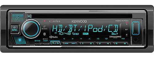 Kenwood eXcelon Single DIN Bluetooth CD Car Stereo Receiver with Amazon Alexa Voice Control
