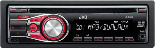 JVC In-Dash CD/MP3/WMA Car Stereo Receiver w/ Dual Auxiliary Inputs, 3-Band Equalizer & 6 Station Presets